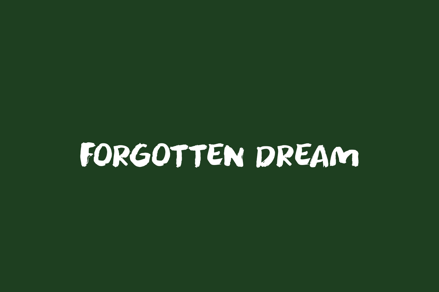 Forgotten Dream Free Font