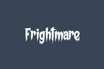 Frightmare Free Font