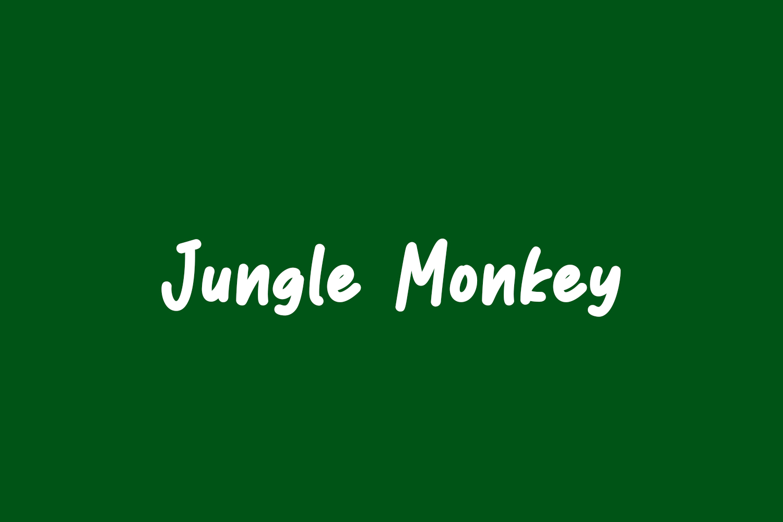 Jungle Monkey Free Font