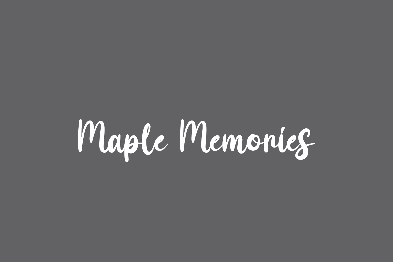 Maple Memories Free Font