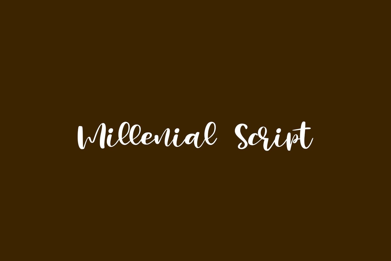 Millenial Script Free Font