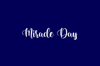 Miracle Day Free Font