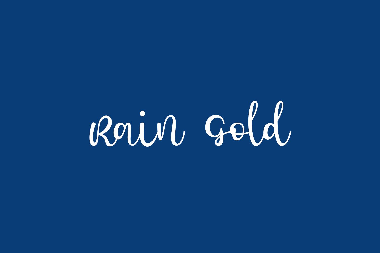 Rain Gold Free Font