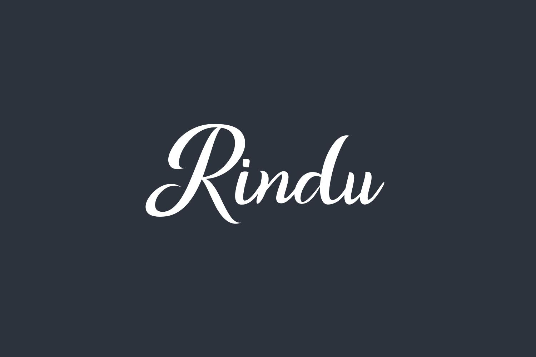 Rindu Free Font
