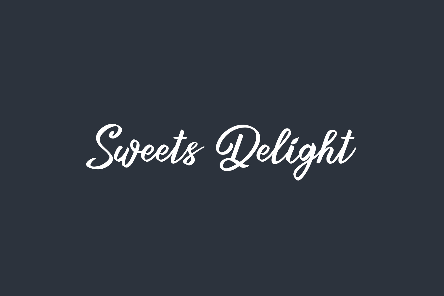 Sweets Delight Free Font