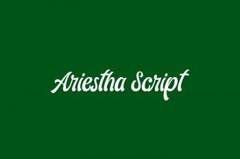 Ariestha Script Free Font