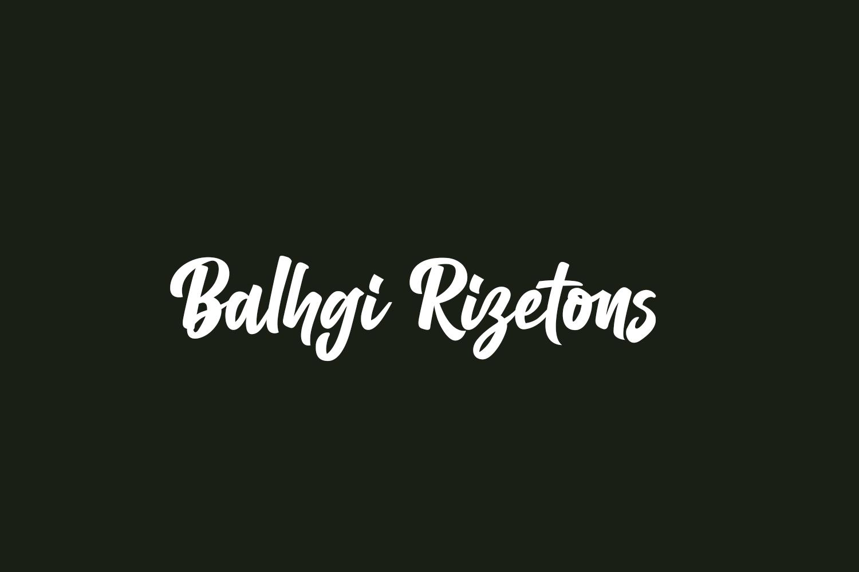 Balhgi Rizetons Free Font