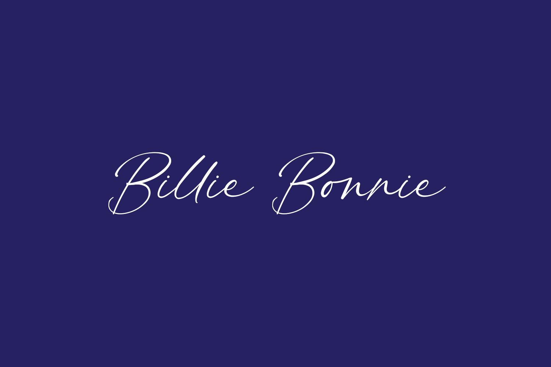 Billie Bonnie Free Font