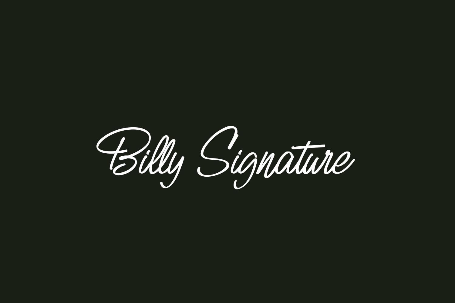 Billy Signature Free Font