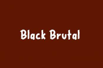 Black Brutal Free Font