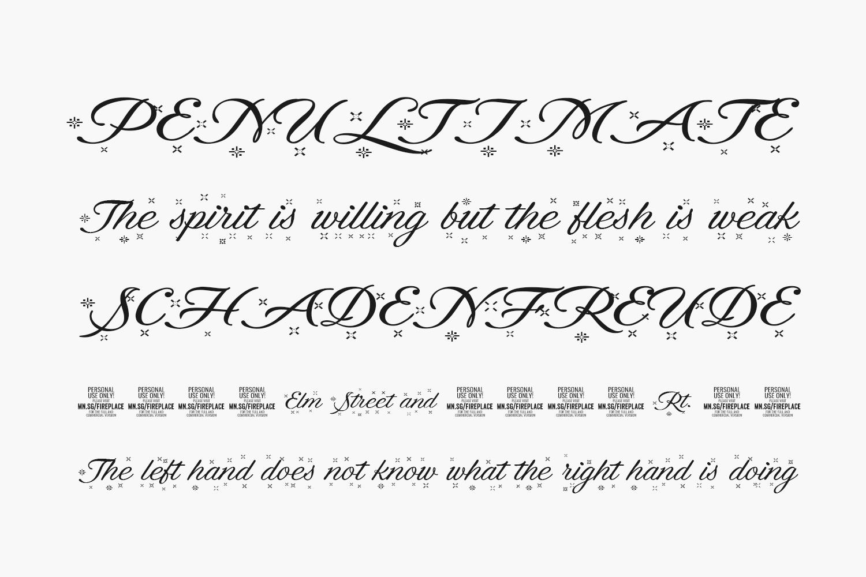 Fireplace Free Font