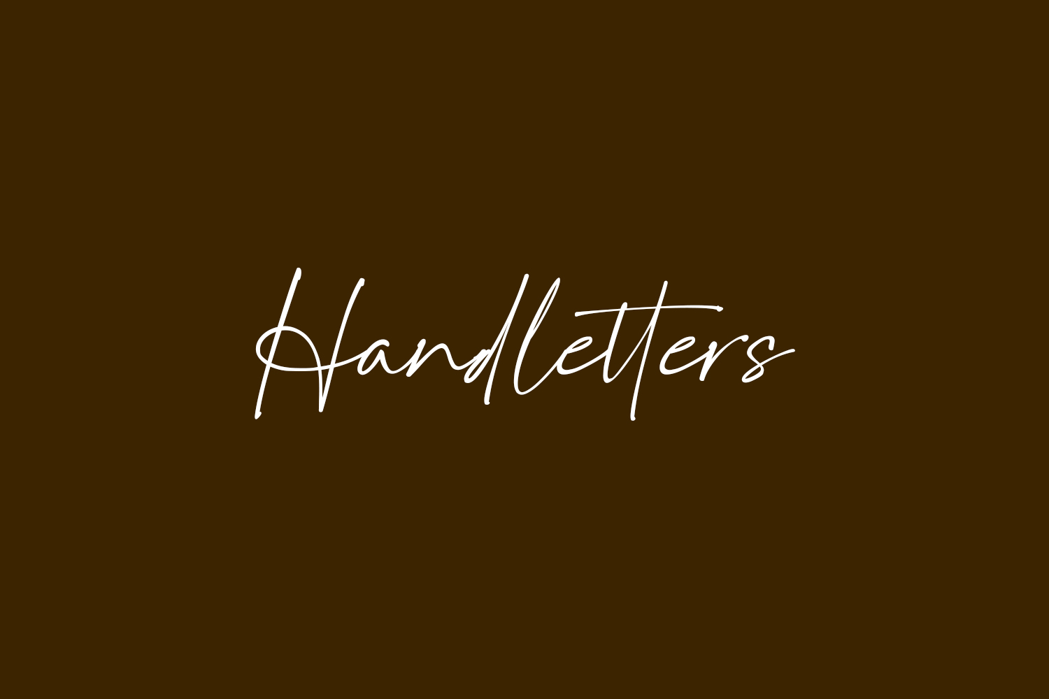 Handletters Free Font