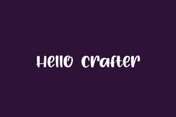 Hello Crafter Free Font