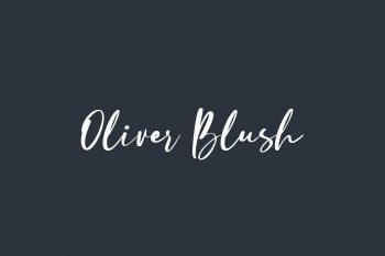 Oliver Blush Free Font
