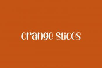 Orange Slices Free Font