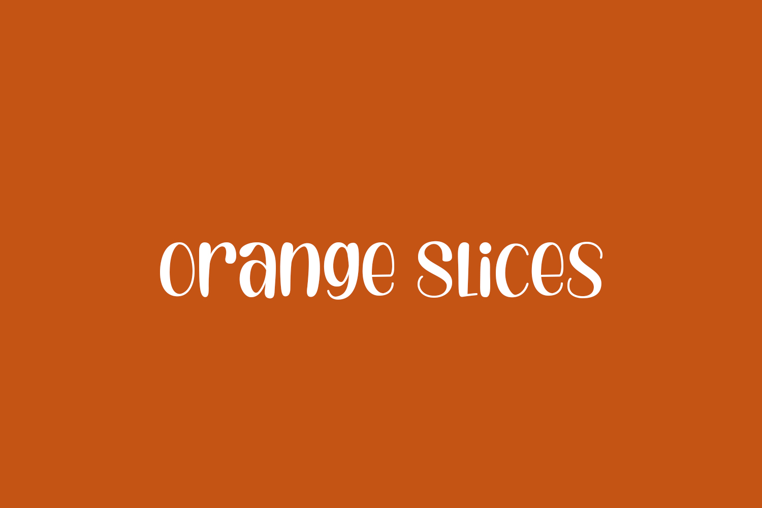 Orange Slices Free Font