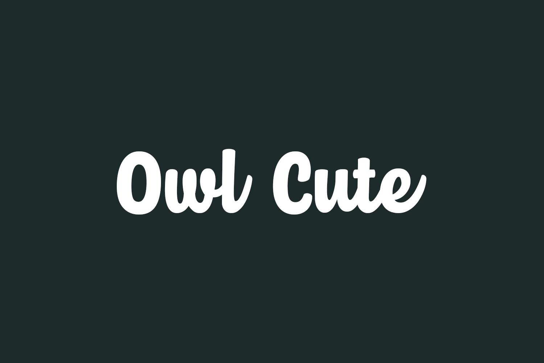 Owl Cute Free Font