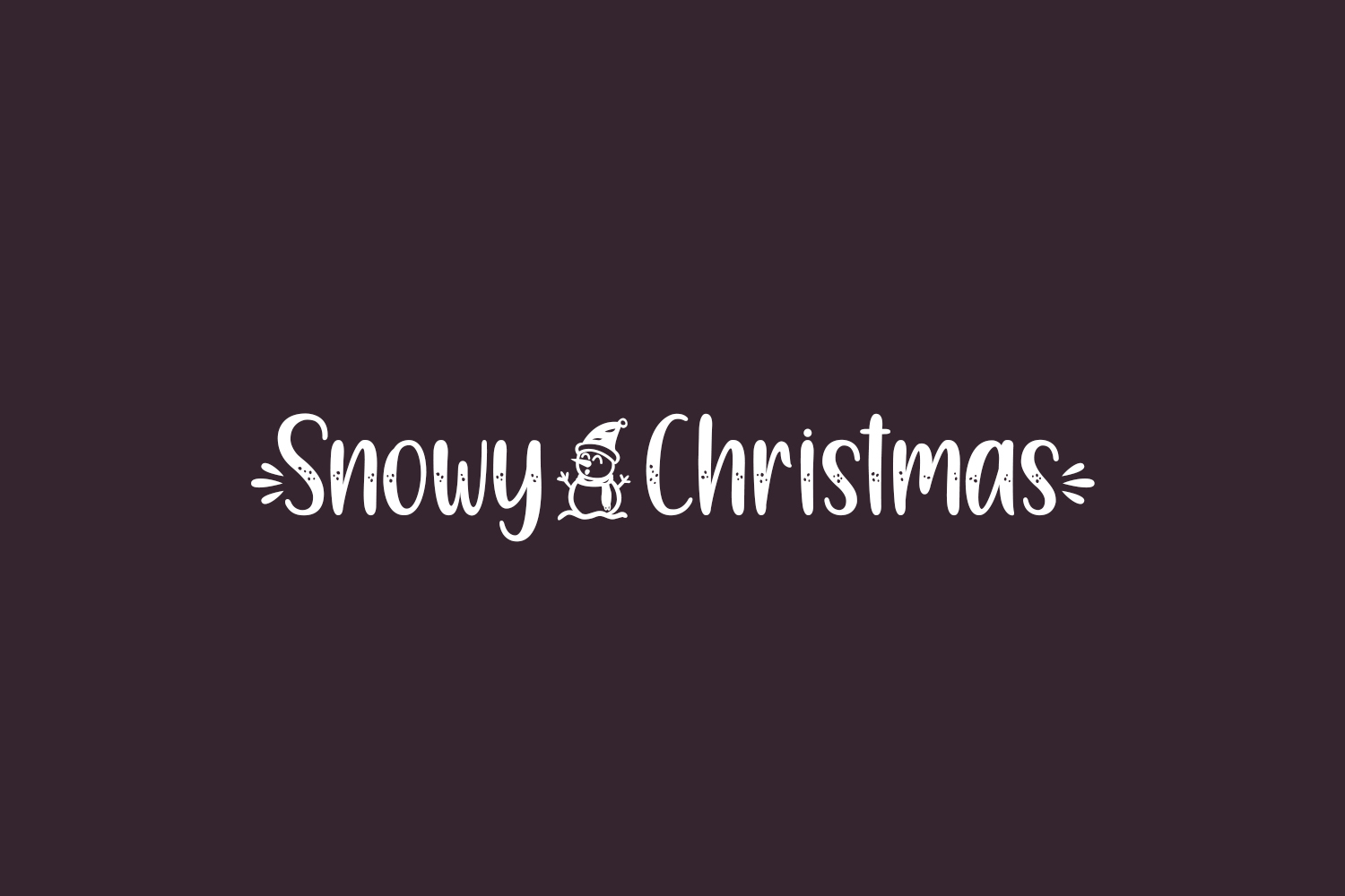 Snowy Christmas Free Font