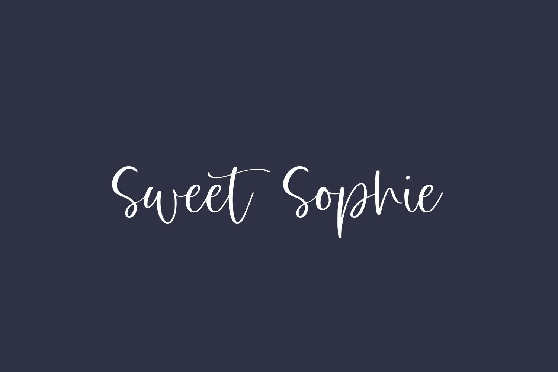 Sweet Sophie Free Font
