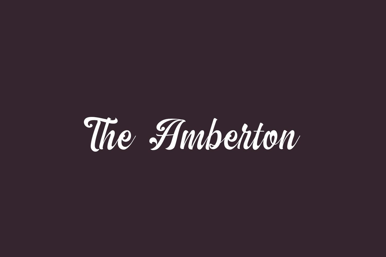 The Amberton Free Font