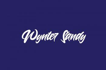 Wynter Sandy Free Font