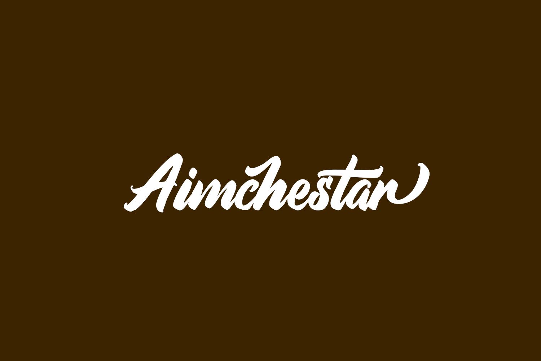 Aimchestar Free Font