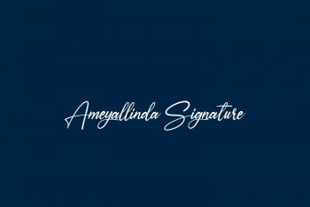 Ameyallinda Signature Free Font