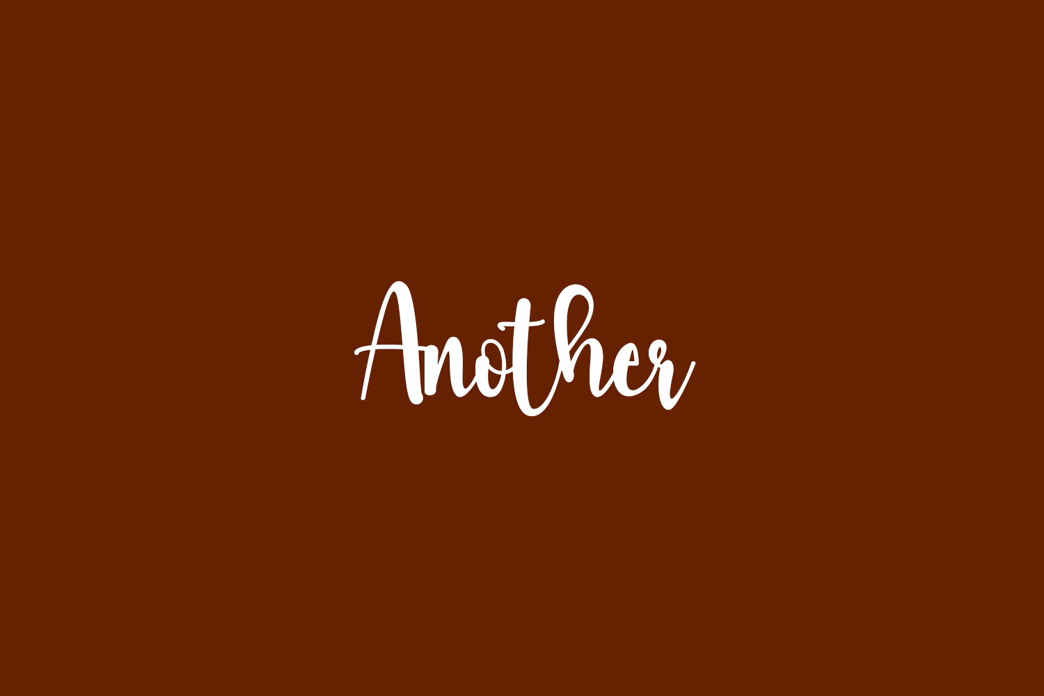 Another Free Font