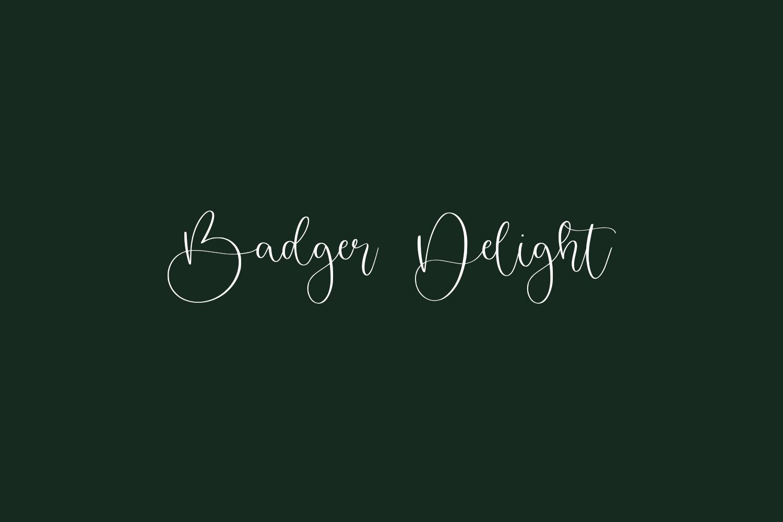 Badger Delight Free Font