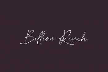 Billion Reach Free Font