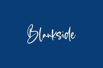 Blankside Free Font