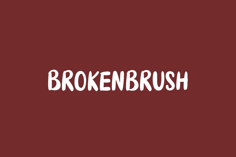 Brokenbrush Free Font