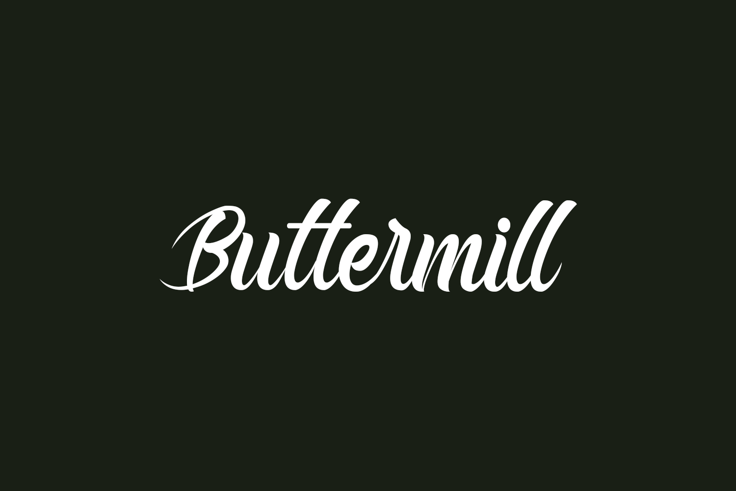 Buttermill Free Font