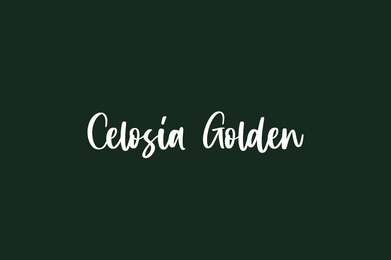 Celosia Golden Free Font
