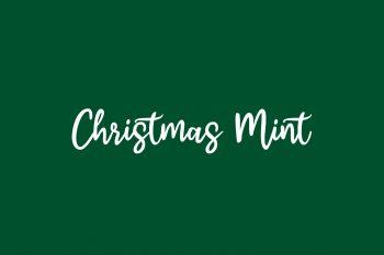 Christmas Mint Free Font