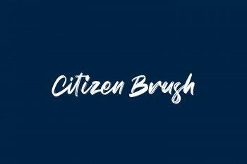 Citizen Brush Free Font