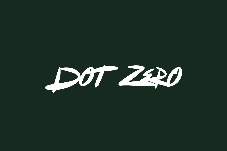 Dot Zero Free Font