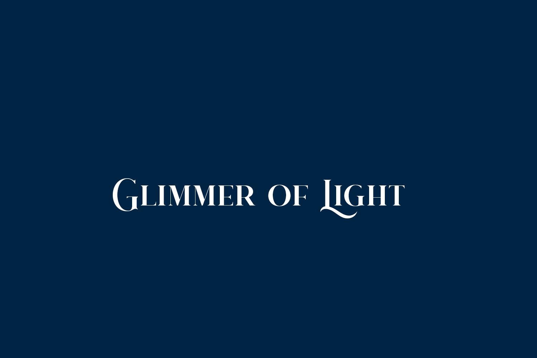 Glimmer of Light Free Font