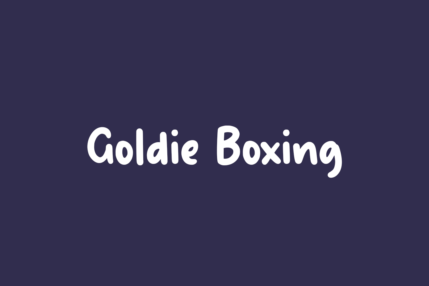 Goldie Boxing Free Font