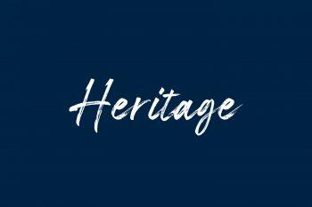 Heritage Free Font