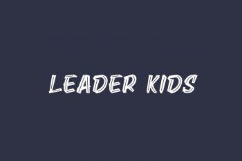 Leader Kids Free Font