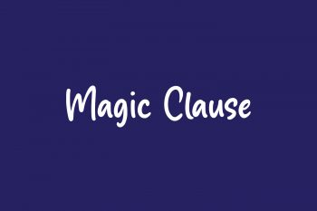 Magic Clause Free Font