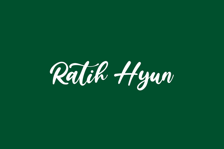 Ratih Hyun Free Font