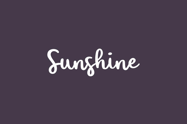 Sunshine Free Font