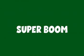 Super Boom Free Font