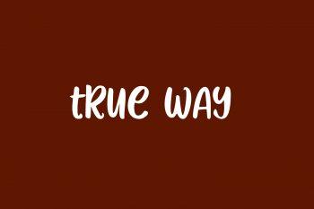 True Way Free Font