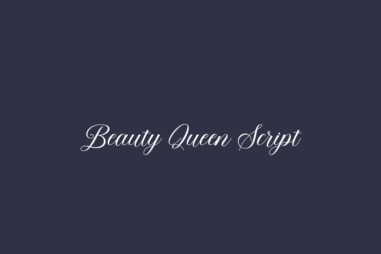 Beauty Queen Script Free Font