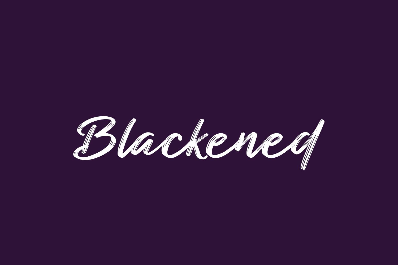 Blackened Free Font