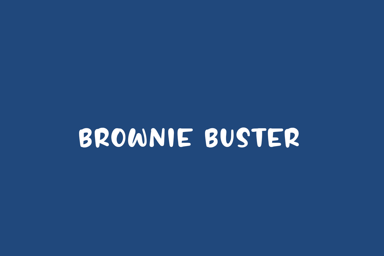 Brownie Buster Free Font