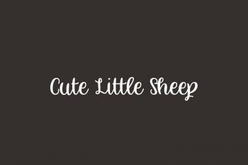 Cute Little Sheep Free Font